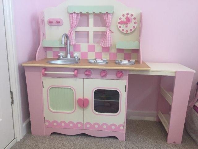 Kids wooden kitchen and accessories