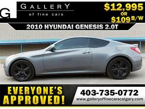 2010 Hyundai Genesis 2.0T $109 BI-WEEKLY APPLY NOW DRIVE NOW