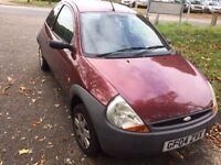 LOVELY FORD KA IN VERY GOOD CONDITION ONE OWNER LOOKS AND DRIVES EXCELLENT MOT TILL MAY 2017