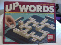 Upwords--word tile game--100 tiles version!  3 copies available