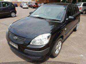 2009 Kia Rio JB LX Black 5 Speed Manual Hatchback Georgetown Newcastle Area Preview