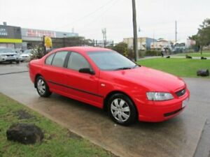 2004 Ford Falcon BA XT (LPG) Red 4 Speed Auto Seq Sportshift Sedan Epping Whittlesea Area Preview