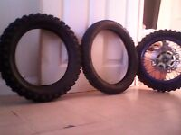 Pit bike tyres,exhaust and a few other parts