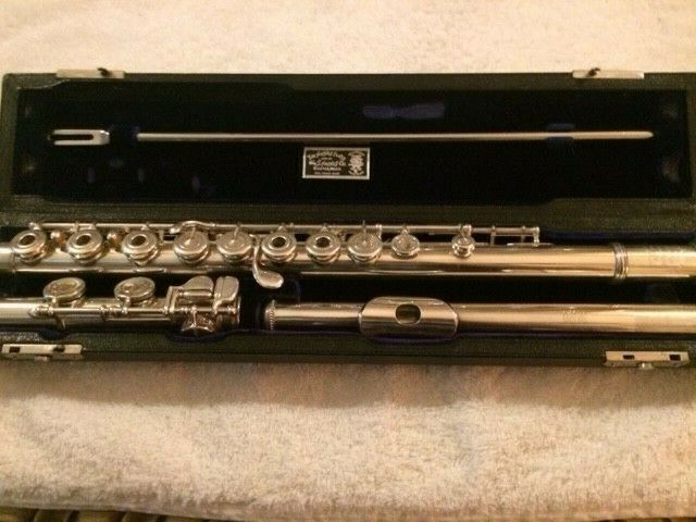 Wm. S. Haynes, Hand-Made, Open Hole, Solid Silver Flute, NO Virus-19 Germs