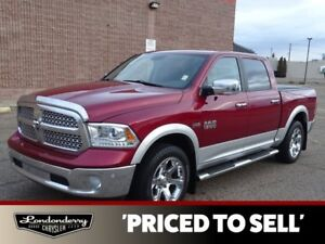 2014 Ram 1500 4WD CREWCAB LARAMIE Navigation (GPS),  Leather,  H