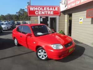 2004 Hyundai Accent LS 1.6 Red 5 Speed Manual Hatchback Edgeworth Lake Macquarie Area Preview