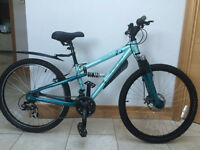 """Girls/ Ladies Apollo FS26S Turquoise Bike, 14"""" Frame Great condition a great christmas gift"""