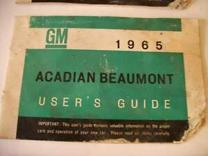 3 Chevrolet 1965 1967 Camaro Acadian Chevy II Owners manuals Stratford Kitchener Area image 3