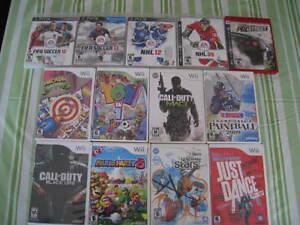 Jeux de PS3 et WII