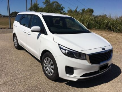 2018 Kia Carnival YP MY19 S Clear White 8 Speed Sports Automatic Wagon Mackay Mackay City Preview