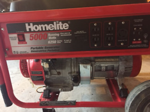 "Gas Generator for Sale: 5000 watt ""Homelite"""