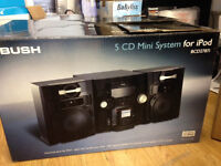 Bush Mini system with I pod dock and 5 DC Trays in box cost £50.00