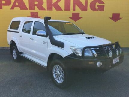 2012 Toyota Hilux KUN26R MY12 SR5 Double Cab White 4 Speed Automatic Utility Winnellie Darwin City Preview