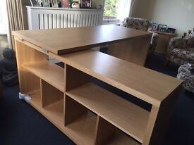 Large, Sturdy Home Office L-Shaped Desk