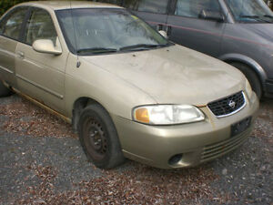 2002 NISSAN SENTRA PARTS AVAILABLE