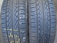 One pair of part worn tyres Hankook 215/60R16 that I have in my garden