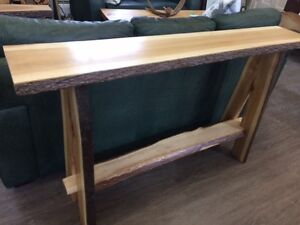 LIVE EDGE CONSOLE - HICKORY!!!