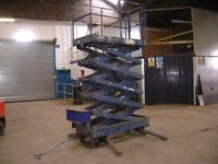 hymo scissor lift for sale used but in good condition reach approx 5mtrs
