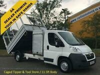 2010/ 10 Citroen Relay 2.2HDi 120 L3 35 Tipper & Toolbox Caged Sides Low Mileage