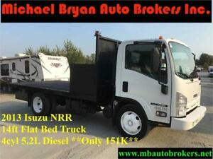 2013 ISUZU NRR 14FT FLAT BED TRUCK *ONLY 151K* GREAT PRICE*