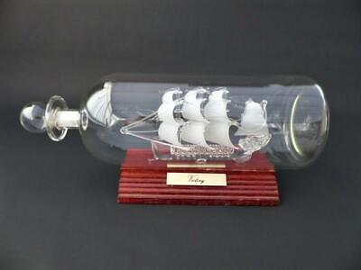 Vintage Glass Ship In A Bottle - The Galleon Victory