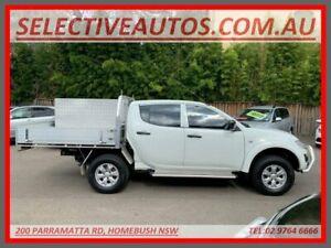 2014 Mitsubishi Triton MN MY14 Update GLX (4x4) White 5 Speed Manual 4x4 Double Cab Chassis Homebush Strathfield Area Preview