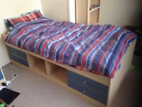 Cabin Bed - Four Drawers - Storage Hatches - Full Size Single