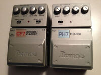 Ibanez Chorus/Flanger and Phaser pedals, $75 for the pair!