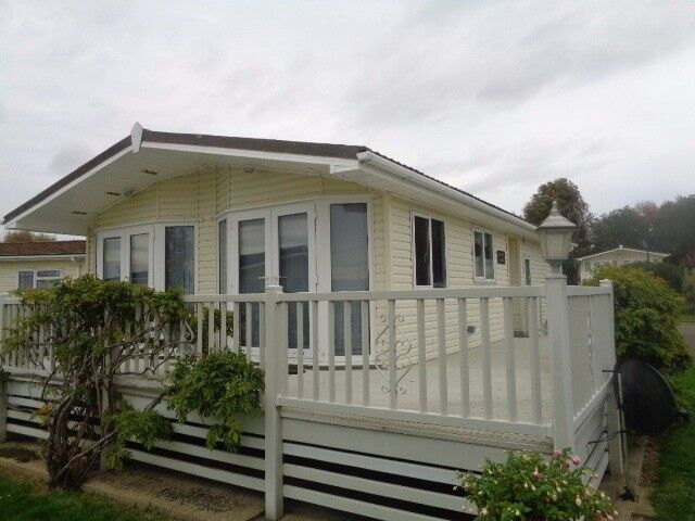 2 bed lodge complete with decking on 12 month park.