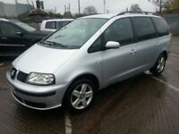 SEAT ALHAMBRA 54 REG DIESEL AUTOMATIC 7 SEATER 12 MONTHS MOT