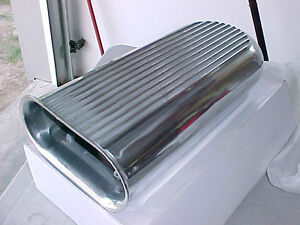 Hilborn Dual Carb Finned Polished Aluminum Hood Scoop AirCleaner London Ontario image 1