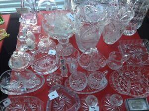 Beaucoup de cristal à vendre (prix variés)