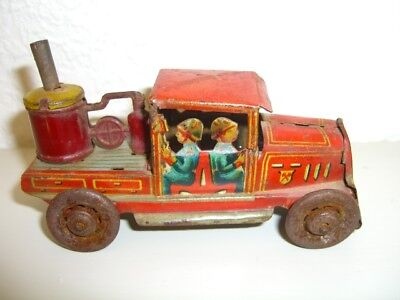 Vintage tin toy car penny toy fire truck 1930 PAYA SPAIN JUGUETE Good condition