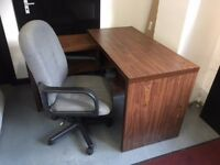 Corner desk with office chair. £40.