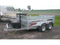 2016 GALVANIZED  6x12 1000LBS HD Dump Trailer