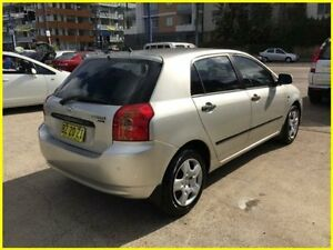 2005 Toyota Corolla ZZE122R 5Y Ascent Silver 4 Speed Automatic Hatchback Kogarah Rockdale Area Preview