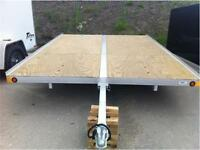 CLEARANCE ONE ONLY!! 8X12 ALUMINUM FRAME SLED TRAILERS