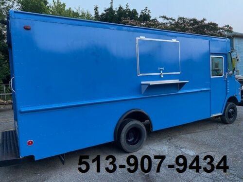 Blue Food Truck equipped with commercial restaurant NSF equipment - Send Offer