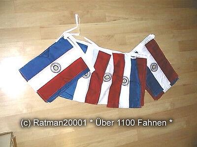 Fahnen Flagge 12 Meter lang Paraguay 32 Fahnen