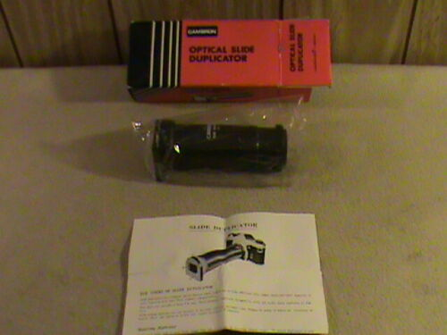 NIB Vint Cambron Optical Slide Duplicator in Compatible T-Mount w/ instructions!