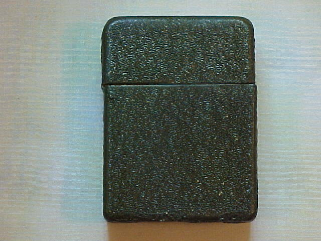 ORIGINAL Unknown Brand WWII Olive Drab Crinkle Paint Finish Cigarette Lighter