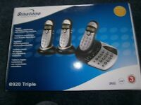 Binatone Digital cordless 3 phone set with answering machine BRAND NEW IN BOX
