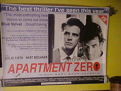 "RARE Original 1988 ""APARTMENT ZERO"" Rolled UK Quad (Hart Bochner/Colin Firth)"