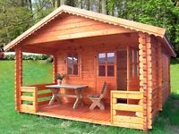 log cabin 6x4 44mm free delivery