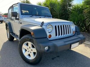 2009 Jeep Wrangler JK MY09 Sport (4x4) Silver 6 Speed Manual Softtop Hoppers Crossing Wyndham Area Preview