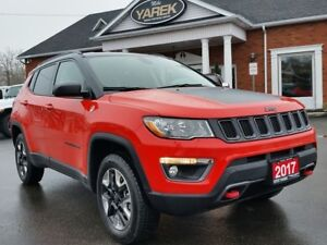 2017 Jeep Compass Trailhawk 4x4, Leather Heated Seat/Wheel. NAV,