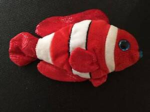 Vintage TY Beanie Baby Jester The Clown Fish Soft Toy Plush