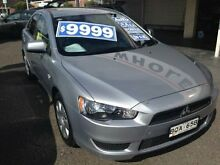 2010 Mitsubishi Lancer CJ MY11 ES Sportback Silver 6 Speed CVT Auto Sequential Hatchback Broadmeadow Newcastle Area Preview
