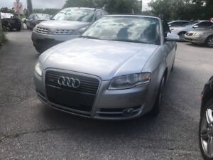 2007 Audi A4 2.0T soft top conv. GPS blue tooth