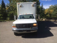 1997  FORD F 350 CUBE VAN DIESEL FOR SALE OR TRADE